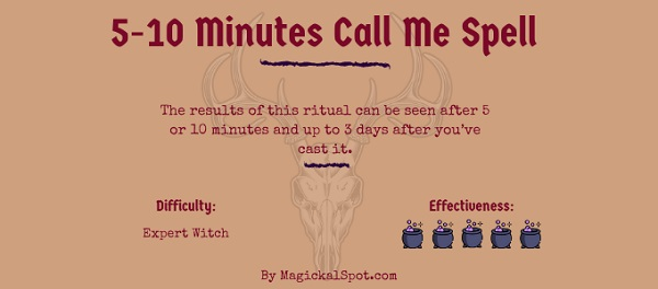 5-10 Minutes Call Me Spell by MagickalSpot