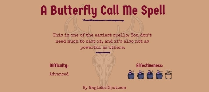 A Butterfly Call Me Spell