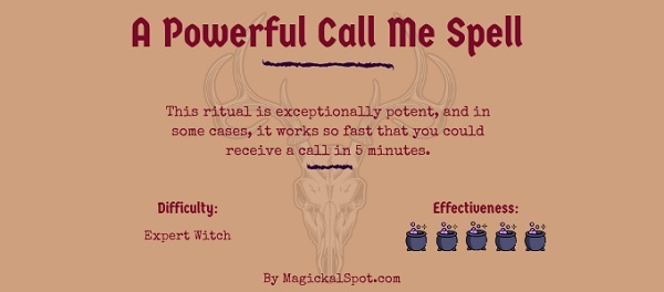 A Powerful Call Me Spell by MagickalSpot