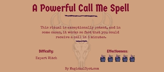 A Powerful Call Me Spell