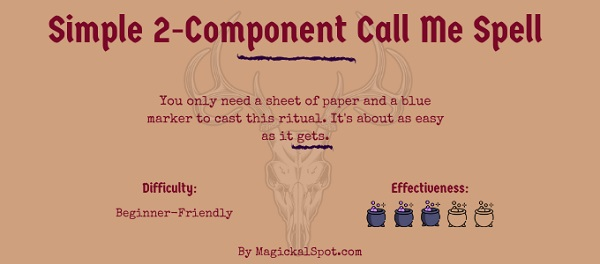 A Simple 2-Component Call Me Spell by MagickalSpot