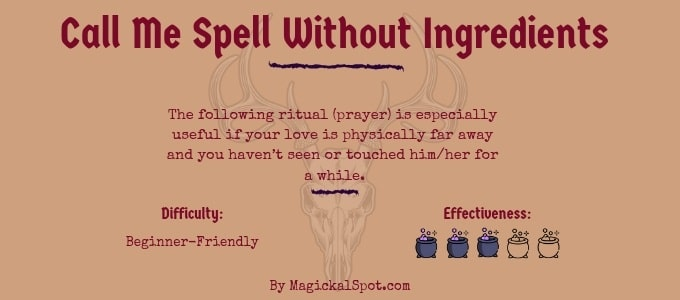 Call Me Spell Without Ingredients