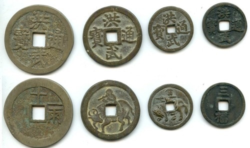chinese coins as money amulet