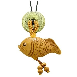 golden fish amulet