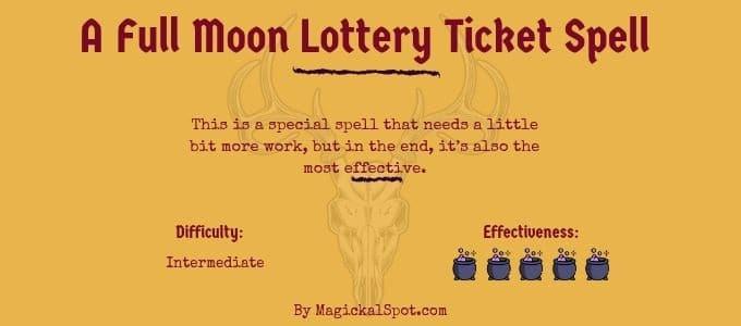 A Full Moon Lottery Ticket Spell