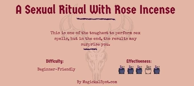 A Sexual Ritual With Rose Incense
