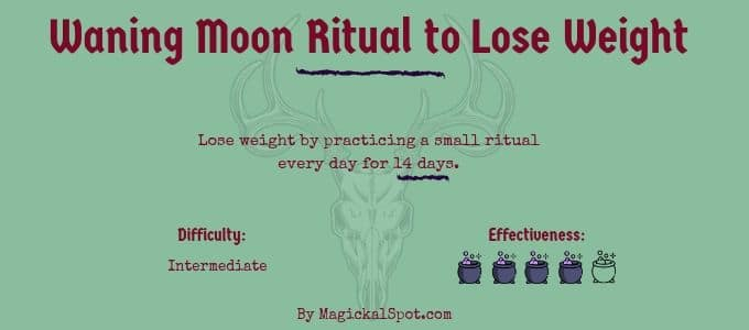 Waning Moon Ritual to Lose Weight
