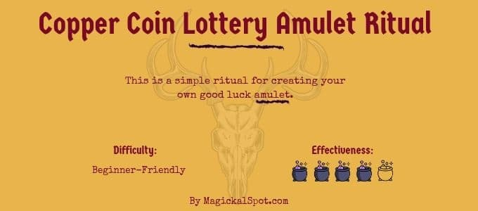 copper coin lottery amulet ritual