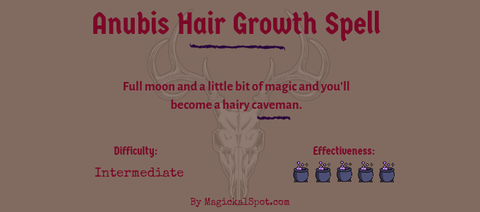 Anubis Hair Growth Spell