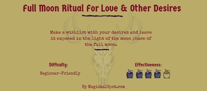 Full Moon Ritual For Love and Other Desires