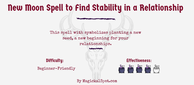 New Moon Spell to Find Stability in a Relationship