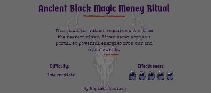 ancient black magic money ritual