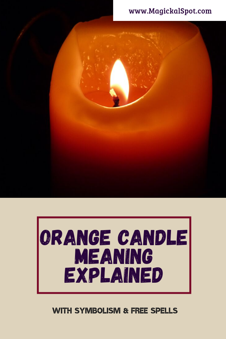 Orange Candle Meaning Explained by MagickalSpot