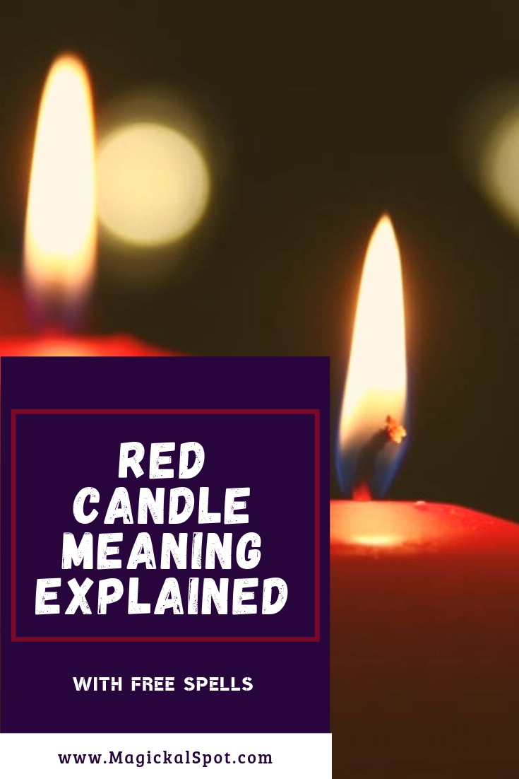Red Candle Meaning Explained by MagickalSpot