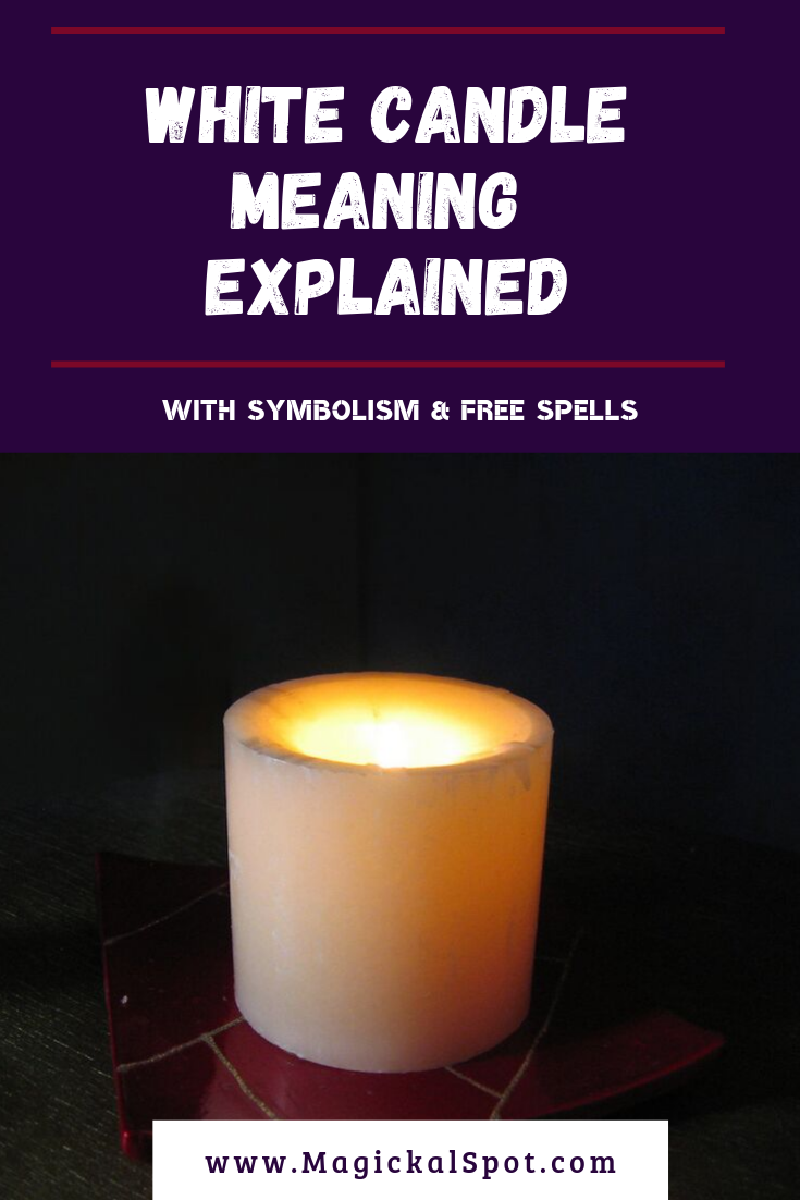 White Candle Meaning Explained by MagickalSpot