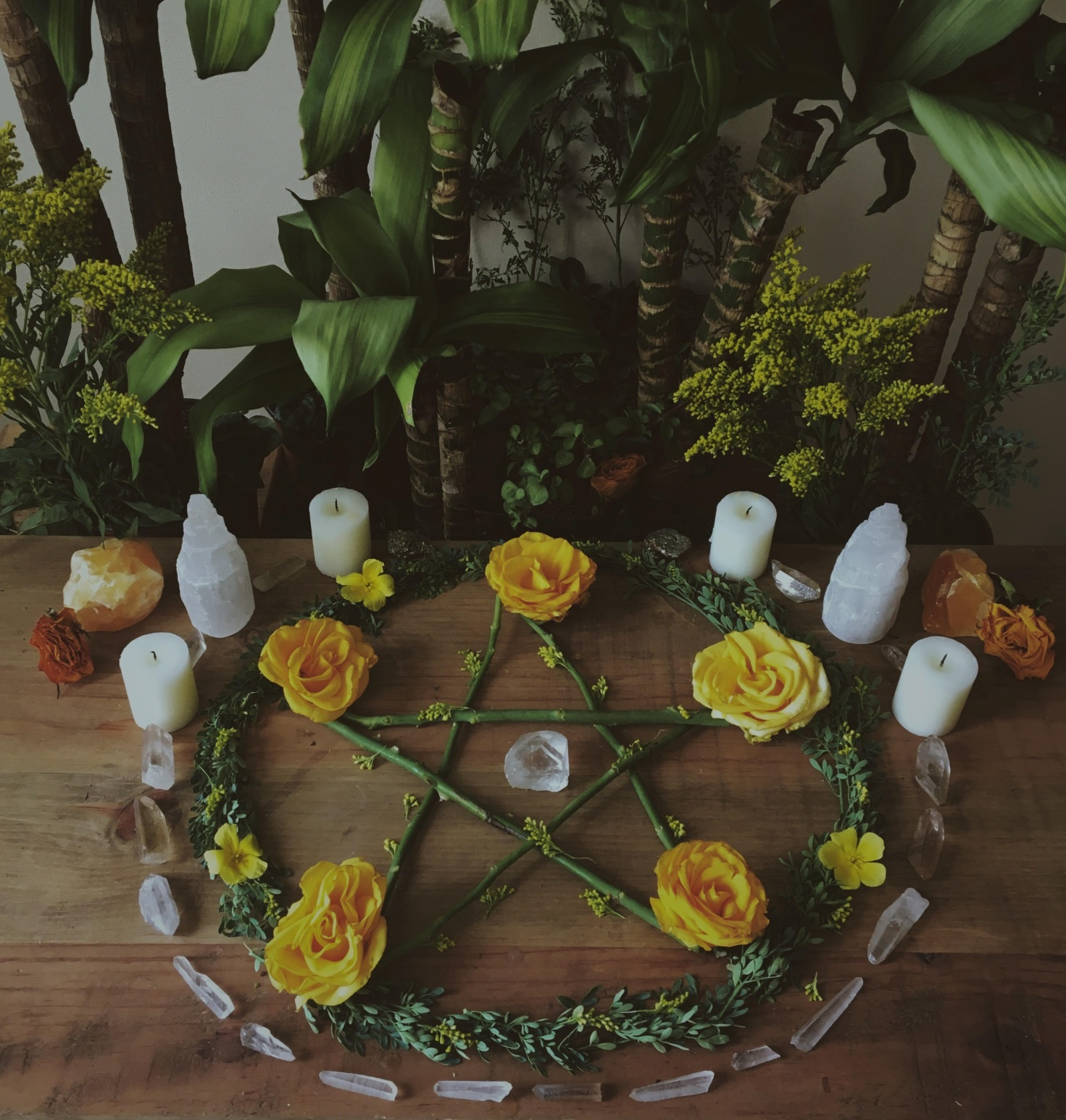 altar for wiccan spells