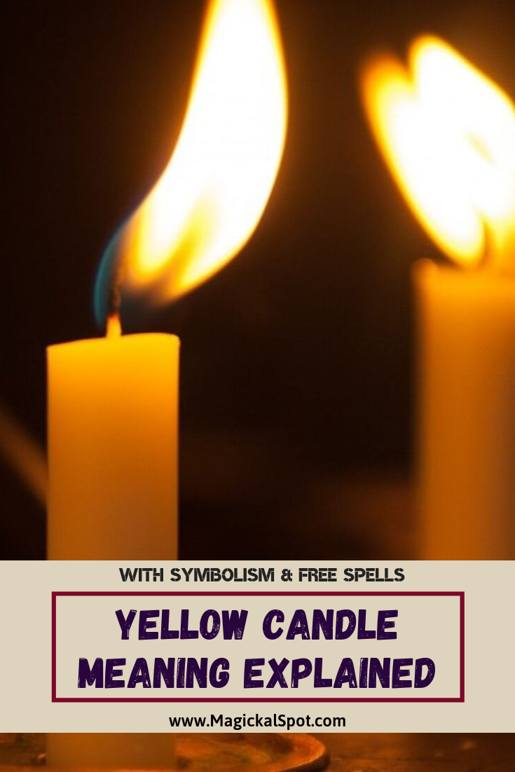 Yellow Candle Meaning Explained by MagickalSpot