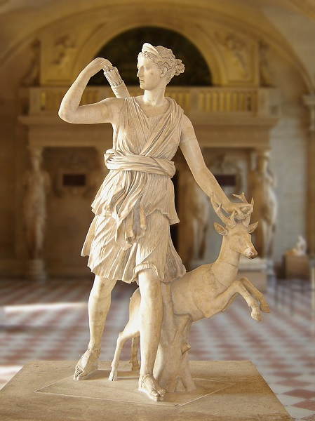 artemis with a deer