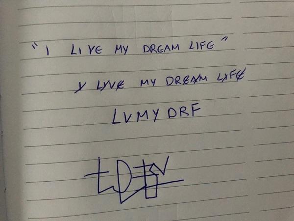 I live my dream life sigil
