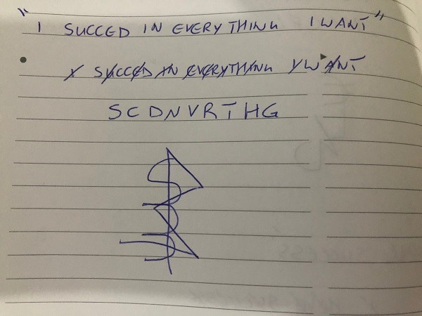 I succeed in everything I want sigil
