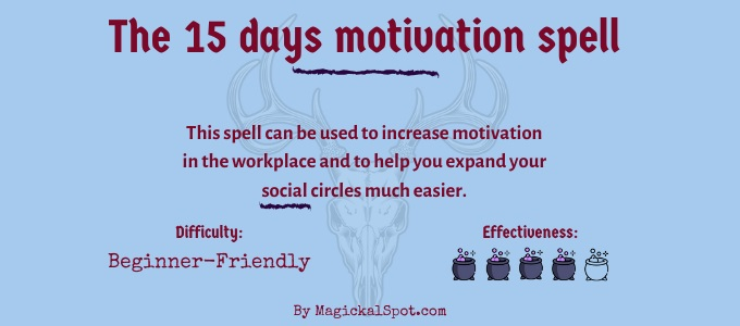 The 15 days motivation spell