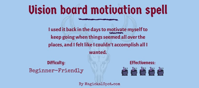 Vision board motivation spell