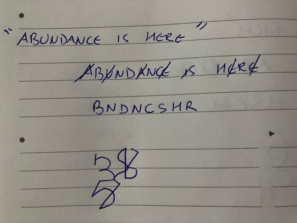 abundance is here sigil