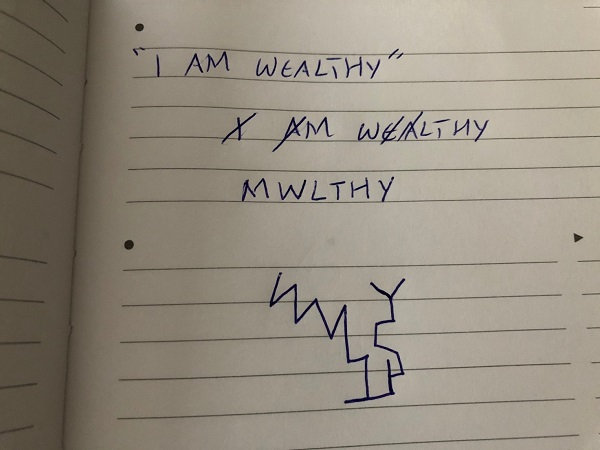 i am wealthy sigil
