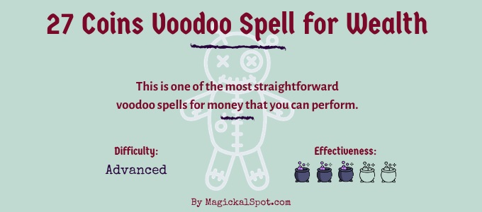 27 Coins Voodoo Spell for Wealth
