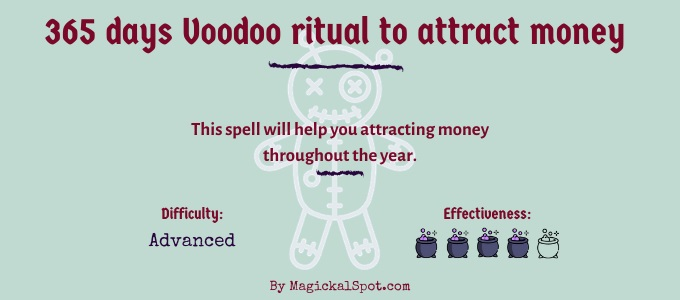 365 days Voodoo ritual to attract money