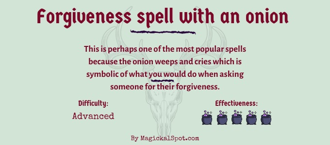 Forgiveness spell with an onion
