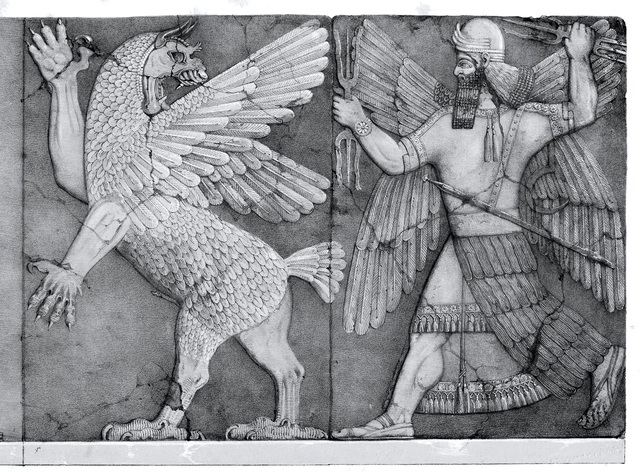Lamashtu and god of sun small