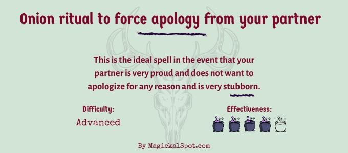 Onion ritual to force apology from your partner