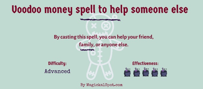 Voodoo money spell to help someone else
