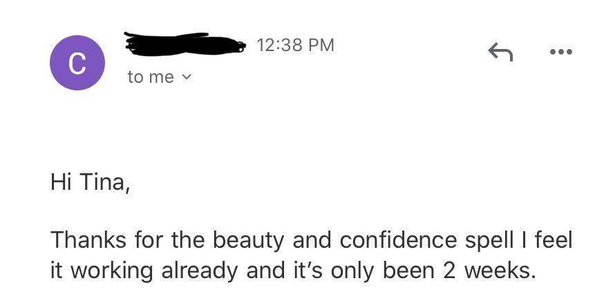 beauty and confidence testimonial december Magickal Spot