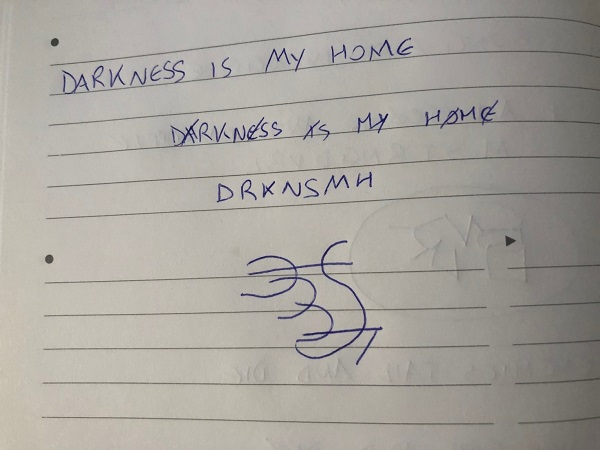 Darkness is my home sigil