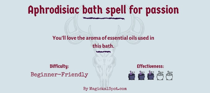 Aphrodisiac bath spell for passion