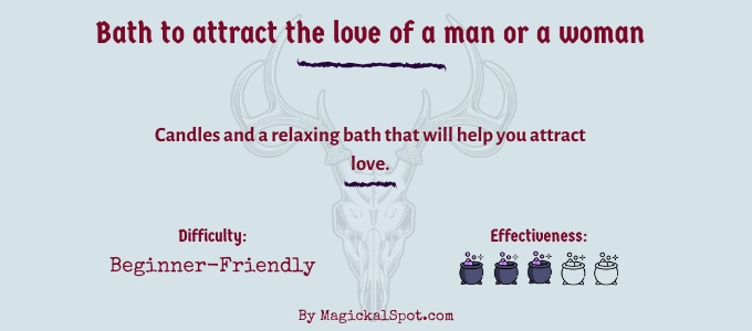 Bath to attract the love of a man or a woman