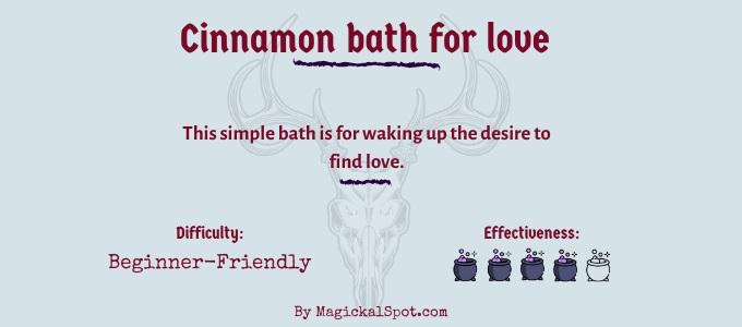 Cinnamon bath for love
