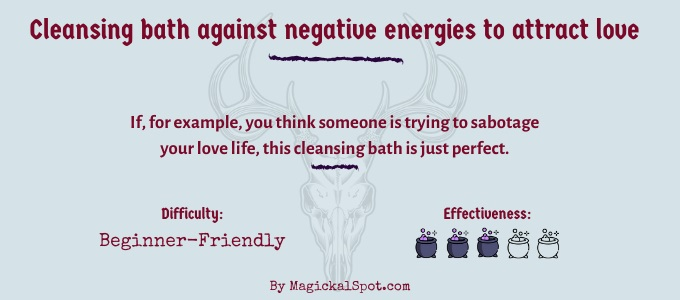Cleansing bath against negative energies to attract love