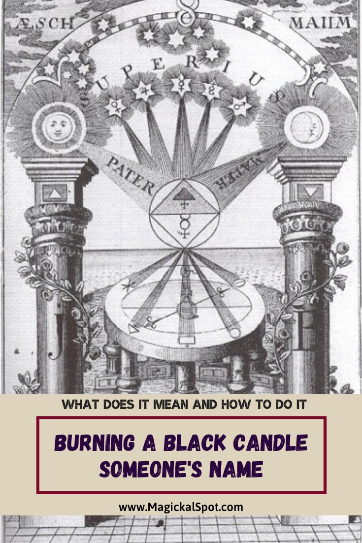 Burning a Black Candle Someone's Name by MagickalSpot