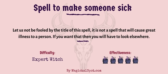 Spell to make someone sick