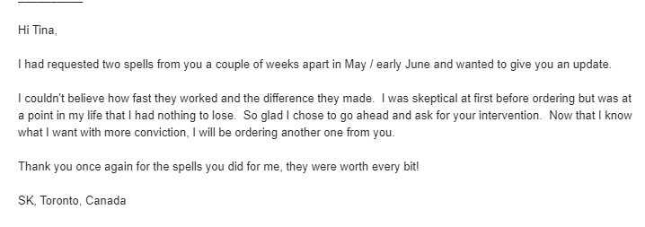 black magic curse removal testimonial