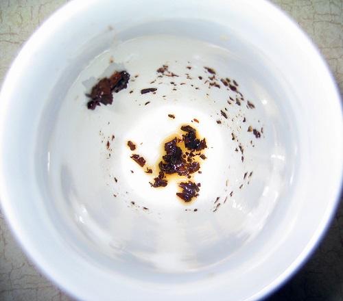 tea grounds form a shape