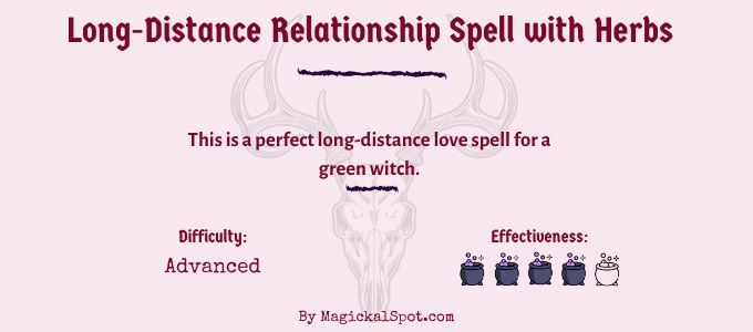 Long-distance relationship spell with herbs