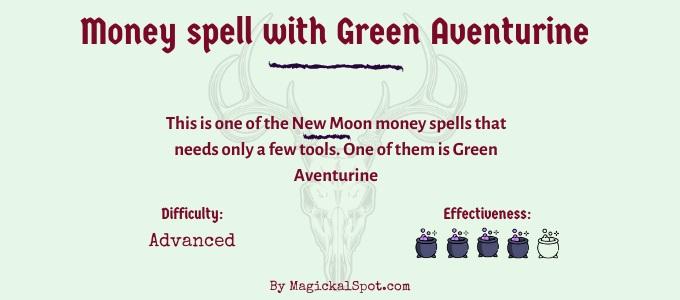 Money spell with green aventurine v2