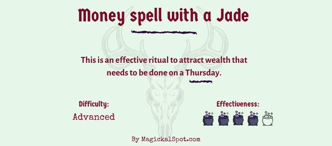New Moon money spell with jade