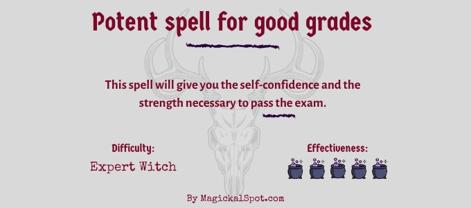 Potent spell for good grades