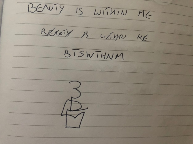BEAUTY IS WITHIN ME sigil