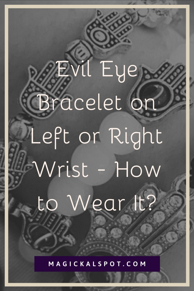 Evil Eye Bracelet on Left or Right Wrist by MagickalSpot